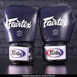 Fairtex BGV1 Breathable Muay Thai Gloves - Blue